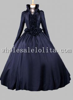 Gothic Black Queen Victorian Cosplay Costume Venetian Carnival Costumes with Cloak