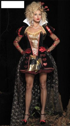 The Queen of Hearts Costume in Alice's Adventures in Wonderland