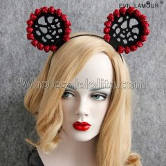 Mickey Ears Rose Vintage Party Sexy Headband Masquerade Accessories