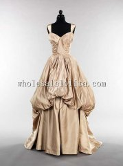 Custom Made 1947 Mid 20th Century American Silk Evening Dress