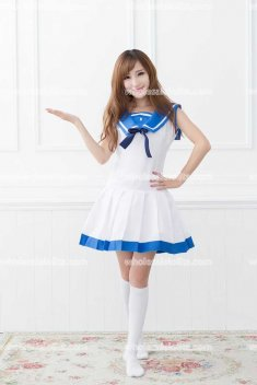 Japan School Sailor Lolita Cosplay Costume