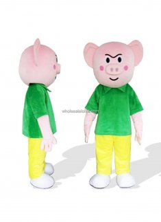 Plush Adult Pig Costume
