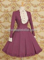 Vermeil Long Sleeves Single breasted Classic Lolita Dress