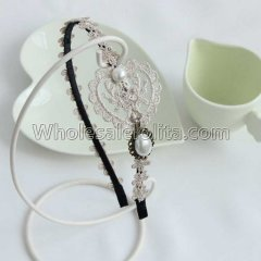 Vintage OL Lace Headband Masquerade Accessories