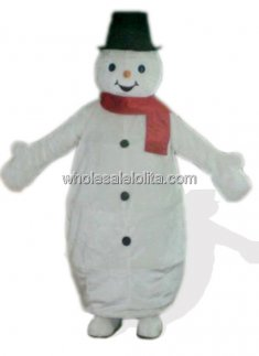 Cute Snowman Plush Mascot Costume