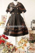Black Lapel Collar Army Uniform JSK Lolita Dress
