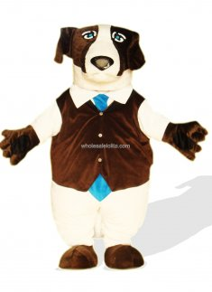 Multi Color Plush Adult Dog Mascot