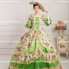 18th Century Rococo Style Marie Antoinette Inspired Prom Dress Wedding Ball Gown GREEN