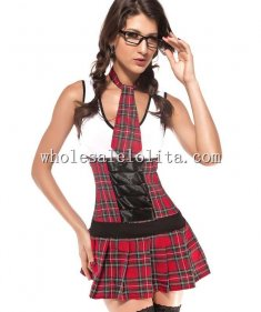 Slinky Check School Girl Costume