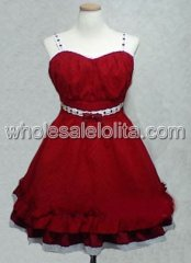 Red Sweetheart Lolita Dress