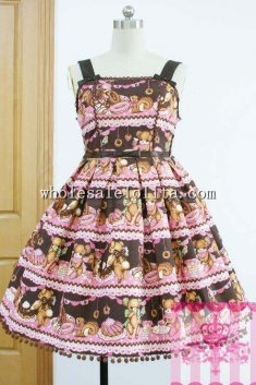Lovely Little Bear's Cafe Sweet JSK Lolita Party Dress