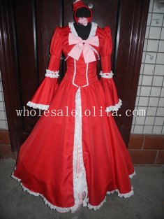 Customizable Hot Sale Red Elizabeth Gothic Victorian Dress