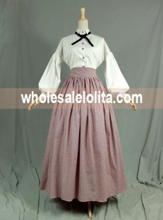 Vintage High Waist Long Victorian Day Skirt