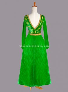 Movie Shrek the Musical Princess Fiona Cosplay Costume Fancy Party Dress