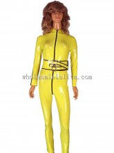 Movie KILL BILL Character The Bride Cosplay Costume Latex Uniform