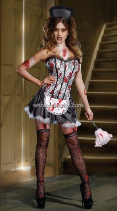 Bloody Mary Maid Devil Halloween Vampire Costume