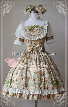 Magic Tea Party Floral Printing OP Lolita with KC