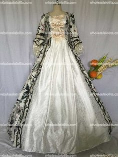 Georgian Victorian Gothic Period Dress Masquerade Ball Gown Reenactment Dresses