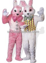 Deluxe Pink Easter Bunny Mascot Costume