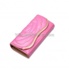 Long Clutch Phone Famous Designer Lady Female Wallet Women Luxury Brand Purse Carteras Portomonee Walet Money Bag Cuzdan Vallet Pink