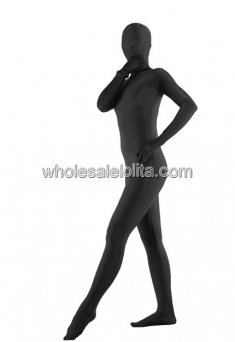 Black Full Covered Spandex Catsuits