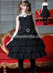 Melting Black Sleeveless Multi layers Sweet Lolita Dress