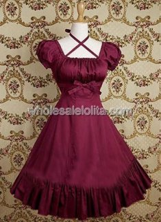 Red Ruffkes Cotton Classic Lolita Dress