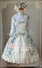 Magic Tea Party Fairy Tale Town Printing Cotton JSK Lolita with KC
