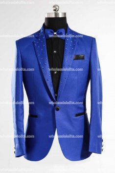 Customized RoyalBlue Mens Suits Medieval Mens Cosplay Costume