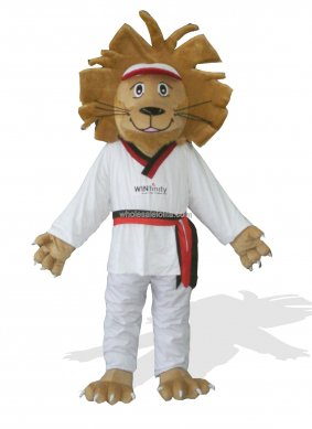 Judo Plush Adult Lion Mascot Costume