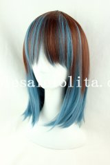 Japan Harajuku Short Straight Heat Resistant Mix-colored Wig
