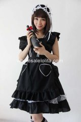 Lolita Dress Black Lace & Bowknot Decoration