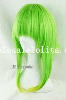 Cosplay Green/Yellow Mix-colored Heat Resistant Long Curly Hair Wig