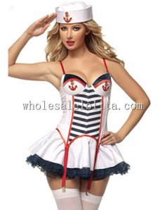 Lovely Tutu Skirt Sailor Costume for Women