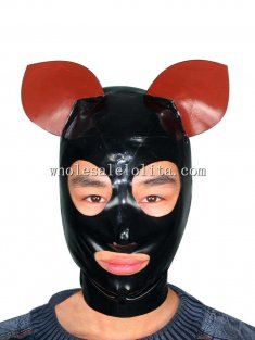 Latex Rubber Pig Ear Costume Hood Mask Gummi Mask