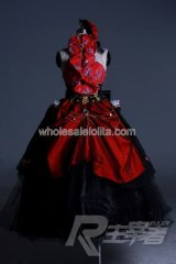 High-grade Red Big Bow Gothic Victorian Dress