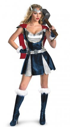 Women Greek God of Thunder Sexy Halloween Costume