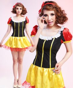 Adult Square Nack Fairy Tale Snow White Costume