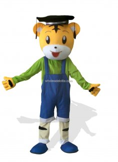 Smart Tiger Plush Adult Mascot Costume