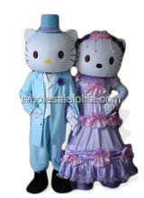 Female Hello Kitty Wedding Mascot Costume