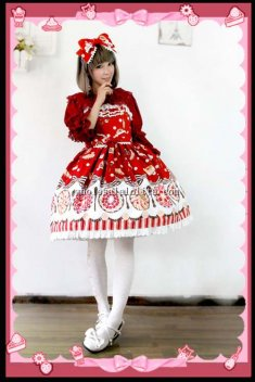 Infanta FRUIT PIE Printing Cotton JSK Sweet Lolita