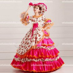 Marie Antoinette Inspired Prom Dress Wedding Quinceanera Ball Gown Rose
