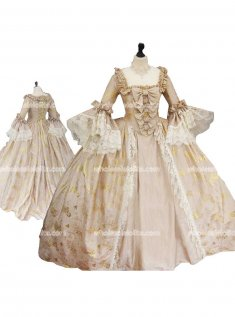 Top Sale 18th Century Marie Antoinette Red Victorian Dress Wedding Dress Ball Gown