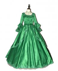 Marie Antoinette Green Victorian Dress Prom Wedding Dress Ball Gown
