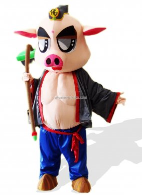 Piggie Short Plush Adult Mascot Costume