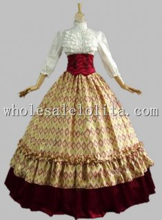 Civil War Ball Gown Reenactment Theatre Clothing Period Dress Gothic