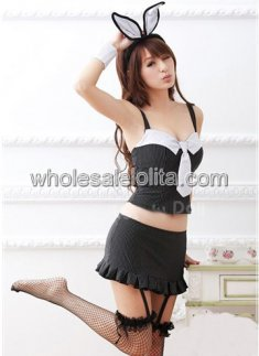 Girls Sexy Black Bunny Costume