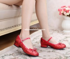 Sweet Lolita Round Toe Bow Party Princess Flat Shoes