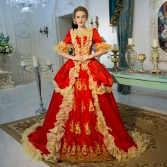 18th Century Red Belle Period Court Dress