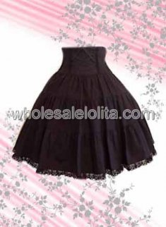 Brown Stirred Cotton Lolita Skirt